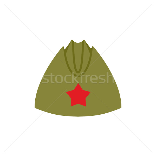 Retro military forage-cap Russian soldiers. Vintage Army cap wit Stock photo © popaukropa
