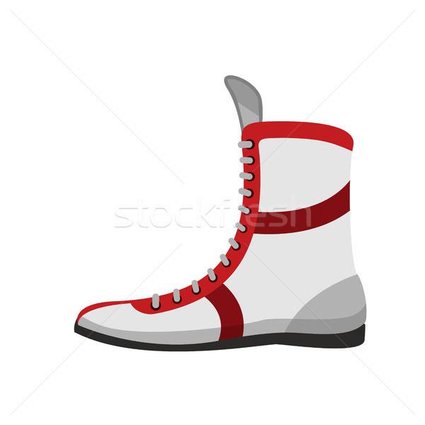 Boxing shoes. Retro footwear for Boxer training Stock photo © popaukropa