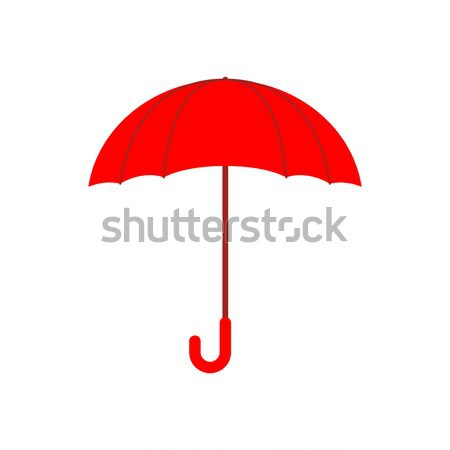 Rosso ombrello isolato pioggia bianco tempesta Foto d'archivio © popaukropa