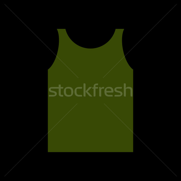 green Shirt Soldier. Army clothes isolated. Military uniforms Stock photo © popaukropa