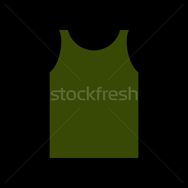 Vert shirt soldat armée vêtements isolé Photo stock © popaukropa