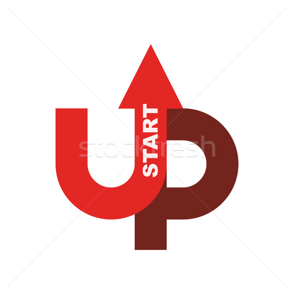Start up logo. Startup emblem. Running business. Getting case. R Stock photo © popaukropa