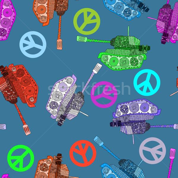 Nie wojny hippie świat pokoju Zdjęcia stock © popaukropa