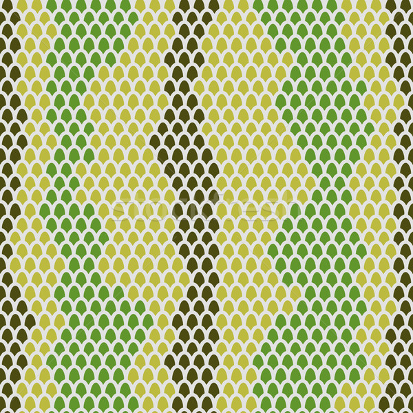 Snake skin seamless pattern. Vector background Leather  reptiles Stock photo © popaukropa