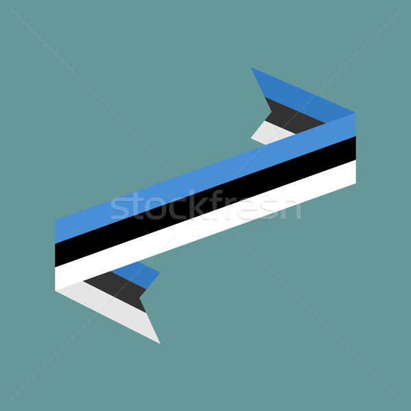 Estonia flag ribbon isolated. Estonian tape banner. National sym Stock photo © popaukropa