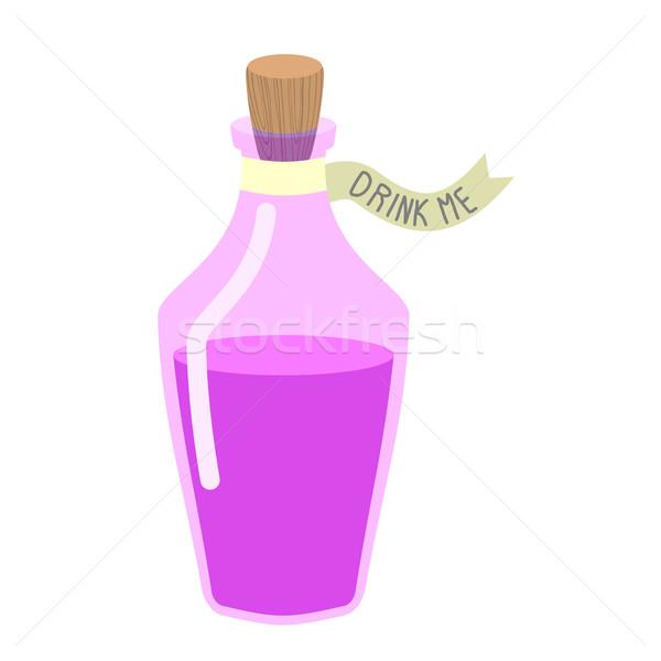 Magic Potion 'Drink me'. bottle beverage Alice in Wonderland. Stock photo © popaukropa