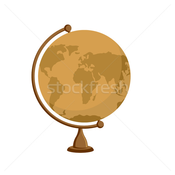 Planet earth -  ancient school globe on stand. Subject for  stud Stock photo © popaukropa