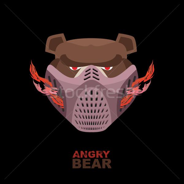 Zły ponosi maska okrutny twarz Zdjęcia stock © popaukropa