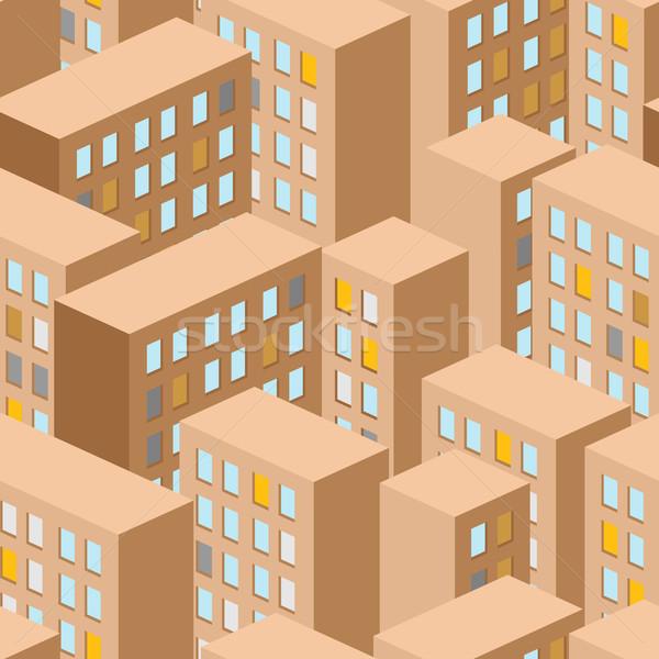 Stok fotoğraf: şehir · vektör · panorama · Bina · binalar