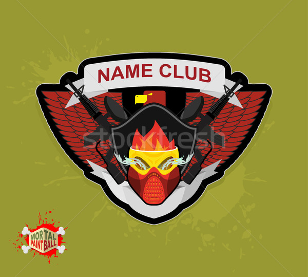 Foto stock: Logo · paintball · club · armas · máscara · deporte