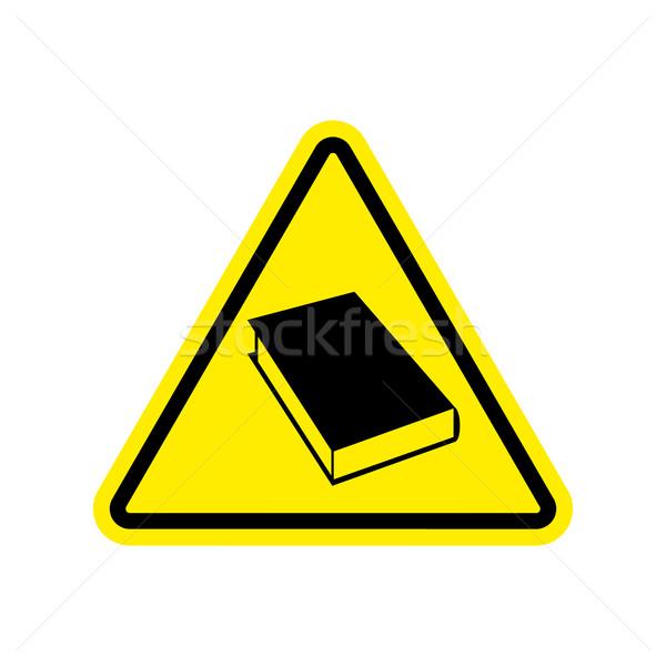 Könyv figyelmeztető jel citromsárga olvas veszély figyelem Stock fotó © popaukropa