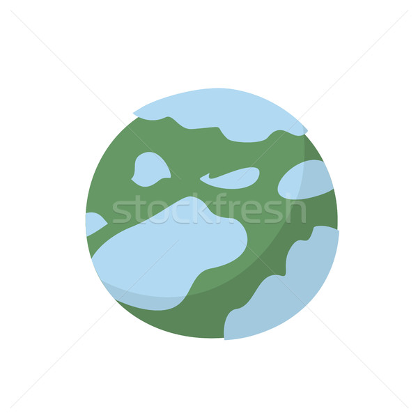 Neptune isolated cartoon style. Planet of solar system on white  Stock photo © popaukropa