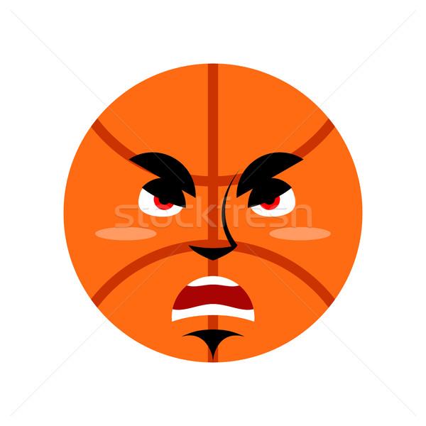Kosárlabda mérges labda mogorva érzelem izolált Stock fotó © popaukropa