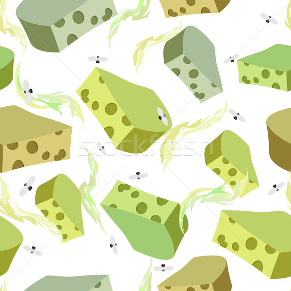 Cheese DORBLU seamless pattern. Background of chunks of blue che Stock photo © popaukropa
