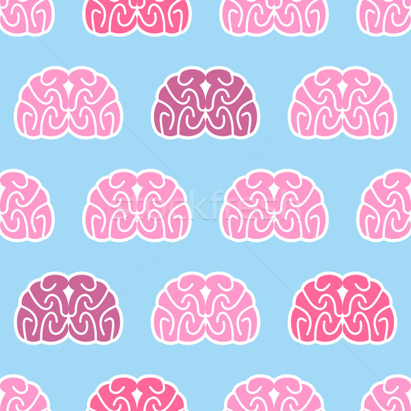 Brains seamless pattern. Background of organs of human head. Ana Stock photo © popaukropa