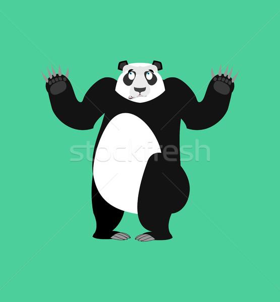 Panda şaşırmış Çin ayı duygu yalıtılmış Stok fotoğraf © popaukropa