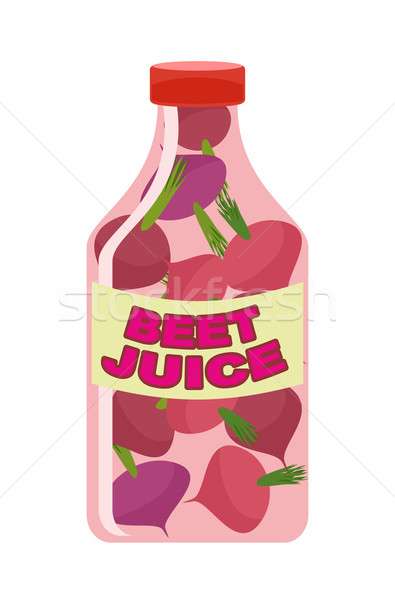 Beet juice. Juice from fresh vegetables. Beets in a transparent  Stock photo © popaukropa