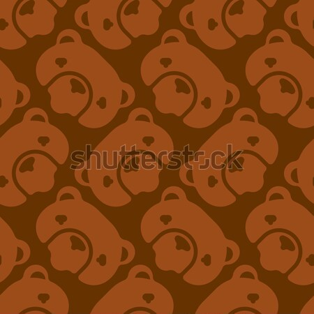 Silhouette turd seamless pattern. Vector Brown shit. Stock photo © popaukropa