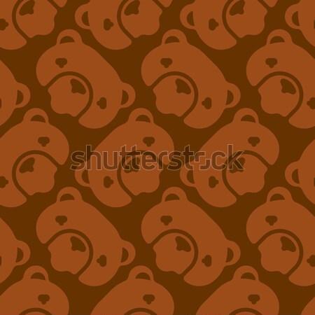 Siluet vektör kahverengi bok yüz Stok fotoğraf © popaukropa