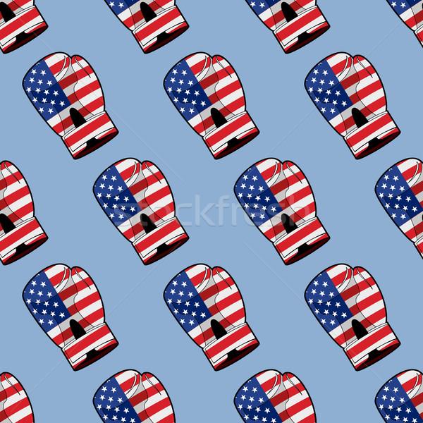 боксерская перчатка флаг Америки бизнеса Сток-фото © popaukropa