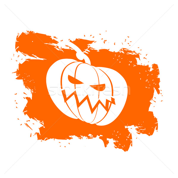 Flag Halloween grunge style on white background. Brush strokes a Stock photo © popaukropa