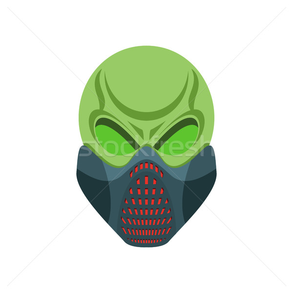 Skull protective mask. Hell defender. Terrible headache. skeleto Stock photo © popaukropa