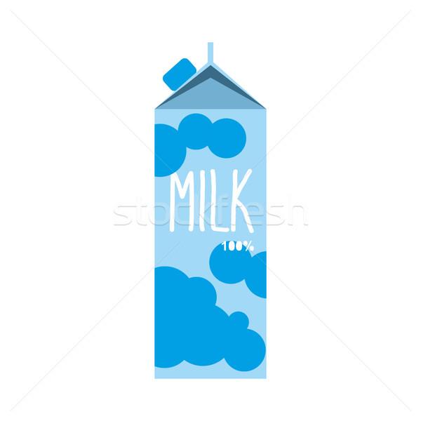 Tej csomag izolált tejgazdaság csomag fehér Stock fotó © popaukropa