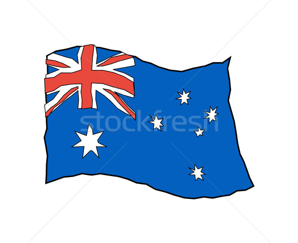 Australia flag in grunge style. Australian national banner Stock photo © popaukropa