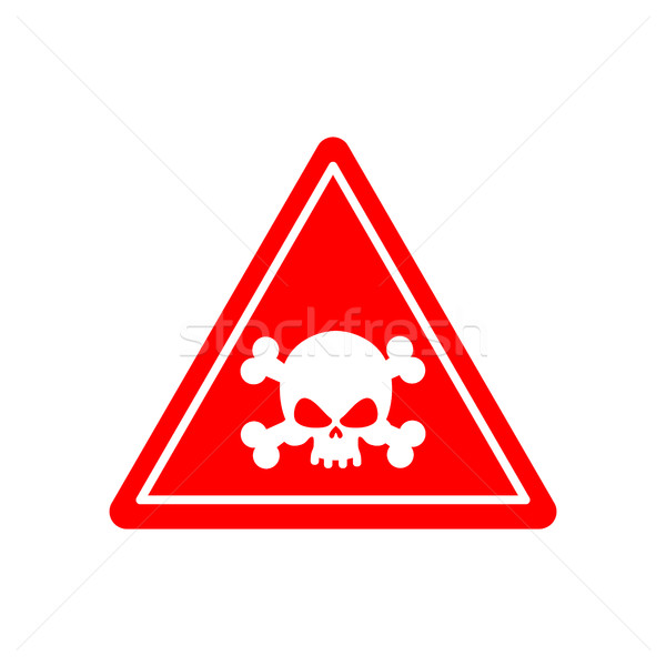 Danger Poison sign red. Attention toxic hazard. Warning sign aci Stock photo © popaukropa
