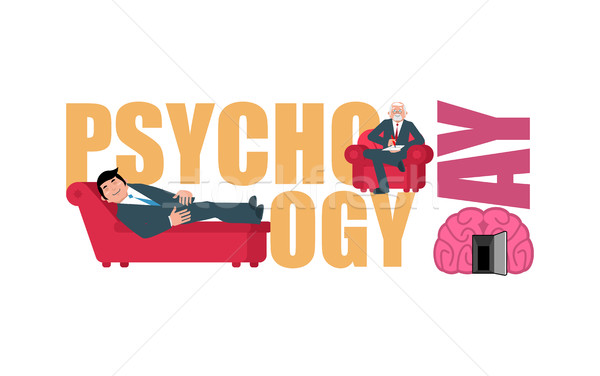 Psychologia dzień konsultacja pocztówkę wakacje psycholog Zdjęcia stock © popaukropa