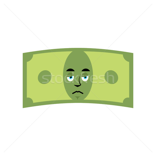 Money sad emotion. Cash Emoji sorry. Dollar isolated Stock photo © popaukropa