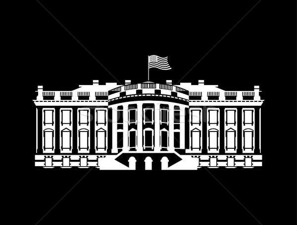 US White House sign icon. America government building. mansion P Stock photo © popaukropa