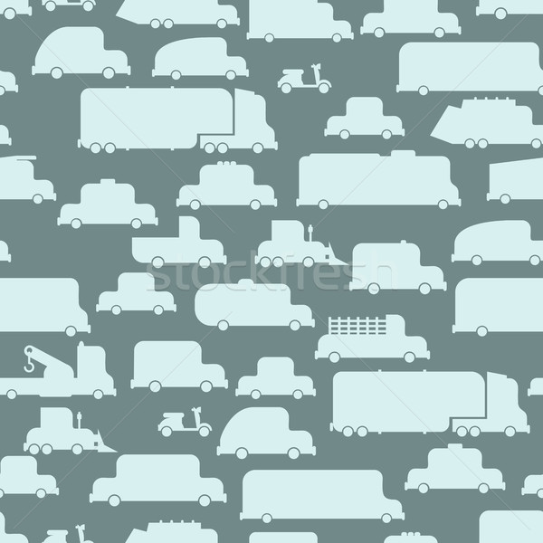 Road transport seamless  background. Repeating pattern car. Or Stock photo © popaukropa