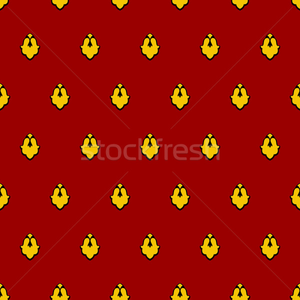 Royal seamless pattern for mantle. Vector illustration for King Stock photo © popaukropa