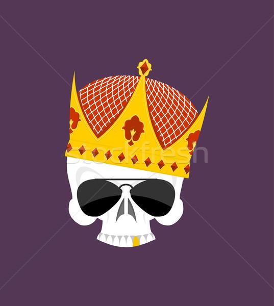 Czaszki korony biały głowie szkielet słońce Zdjęcia stock © popaukropa