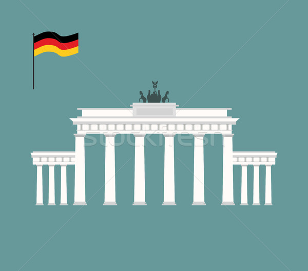 Puerta de Brandenburgo Berlín mojón Alemania arquitectura atracción Foto stock © popaukropa