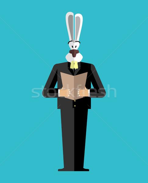 кролик бизнесмен костюм люди заяц Сток-фото © popaukropa