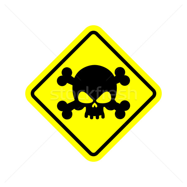 Stock photo: Danger Poison sign yellow. Attention toxic hazard. Warning sign