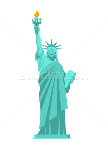 Standbeeld vrijheid geïsoleerd symbool amerika gebouw Stockfoto © popaukropa