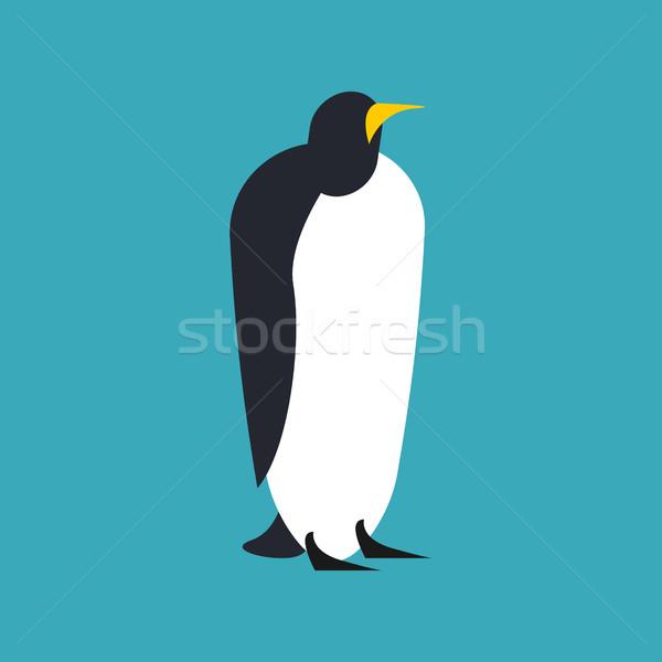 Pingvin izolált állat Északi Sark madár sarkköri Stock fotó © popaukropa