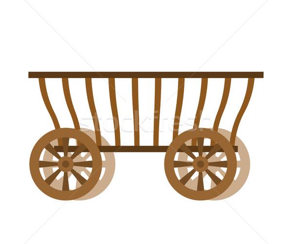 Vagon fa öreg farm szállítás ősi Stock fotó © popaukropa