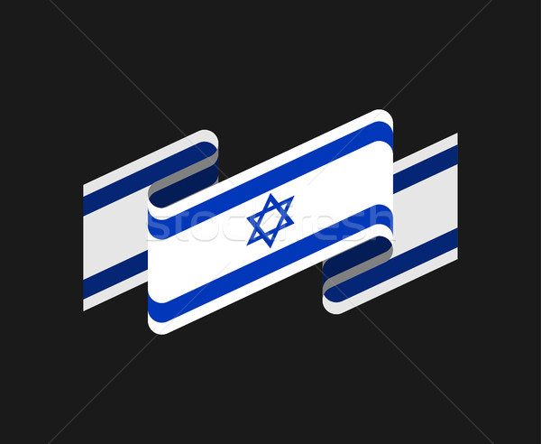 Israel flag isolated. Israeli banner ribbon. Jewish Symbol of St Stock photo © popaukropa