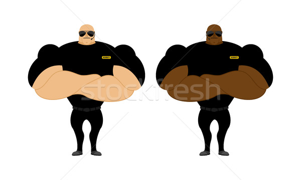 Security Guards nightclub. Two bodybuilder guarding entrance. Po Stock photo © popaukropa