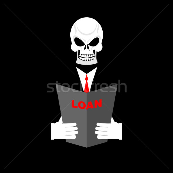 Death in Office suit with a loan. Your personal Manager is death Stock photo © popaukropa