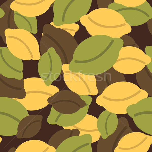 Military texture of dumplings. Camouflage army seamless pattern  Stock photo © popaukropa