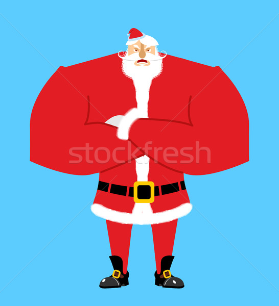 Santa angry. Aggressive Santa Claus. Christmas Grandfather with  Stock photo © popaukropa