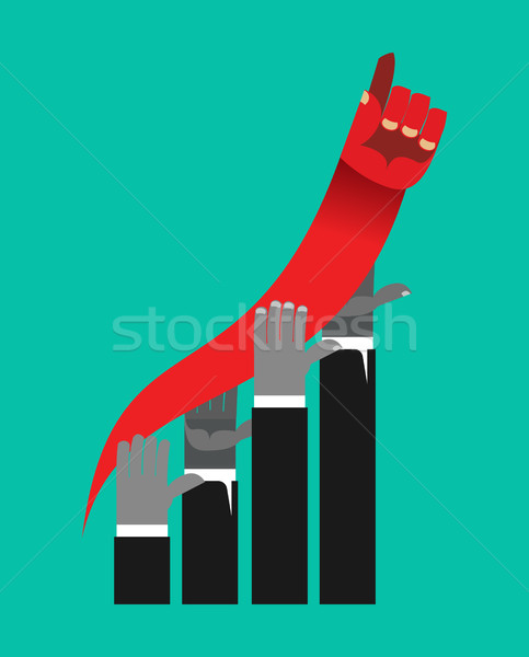 Business competition. Business graph of growth rates. Competitor Stock photo © popaukropa