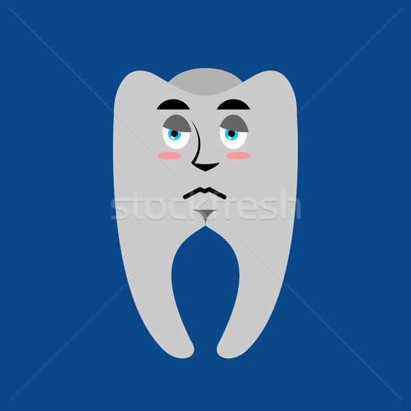 Stok fotoğraf: Diş · üzücü · dişler · duygu · yalıtılmış · gülümseme