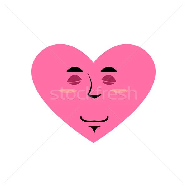 Love Sleeping Emoji. Heart asleep emotion Isolated  Stock photo © popaukropa