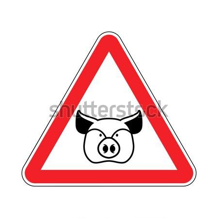 предупреждение полиции наручники красный треугольник дорожный знак Сток-фото © popaukropa